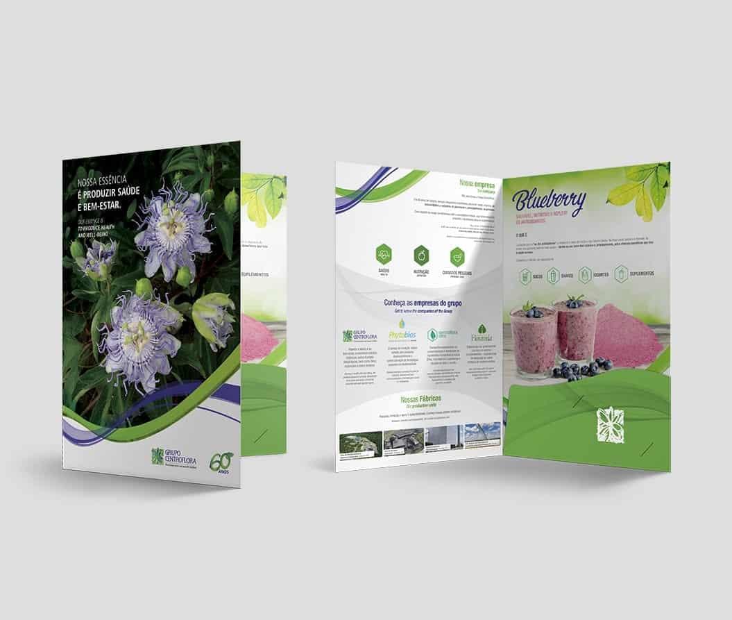 Mockup do catálogo Centroflora