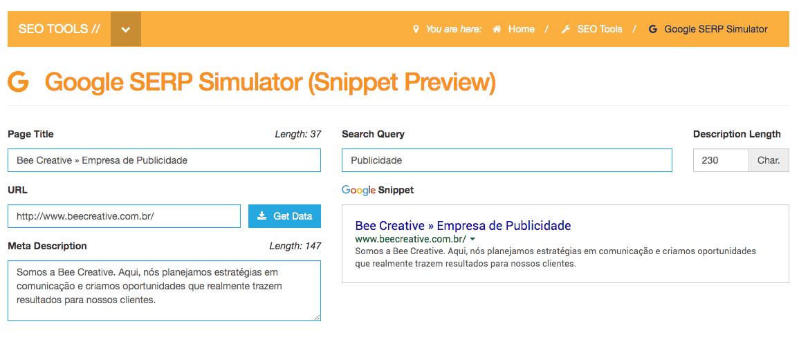 Google SERP Simulator